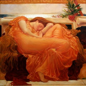 """Flaming June by  Frederic Leighton"""